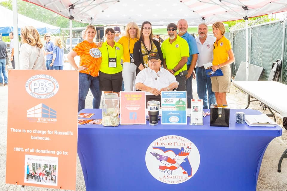 PBS Contractors Honors Collier-Lee Honor Flight at Community BBQ