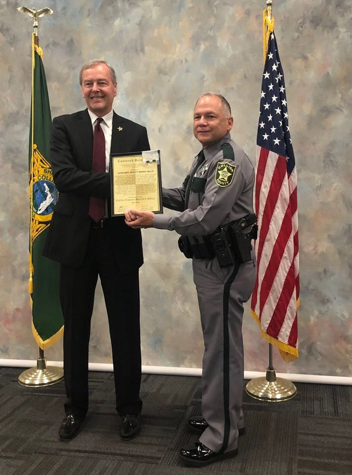 PBS Contractors Senior Relationship Manager Recognized by Collier County Sheriff's Office